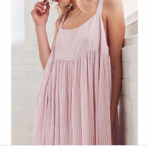 Urban outfitters kimchi blue pink striped dress